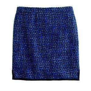 JCREW Blue Tweed Mini Skirt💙